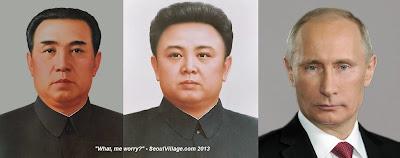 Kim Il-sung, Kim Jong-il, Vladimir Putin, XXth Century Autocrats - SeoulVillage.com