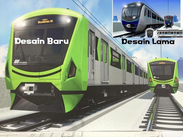 Desain Kereta MRT Jakarta Diganti yang Baru, Karena Katanya yang Dulu Mirip Jangkrik