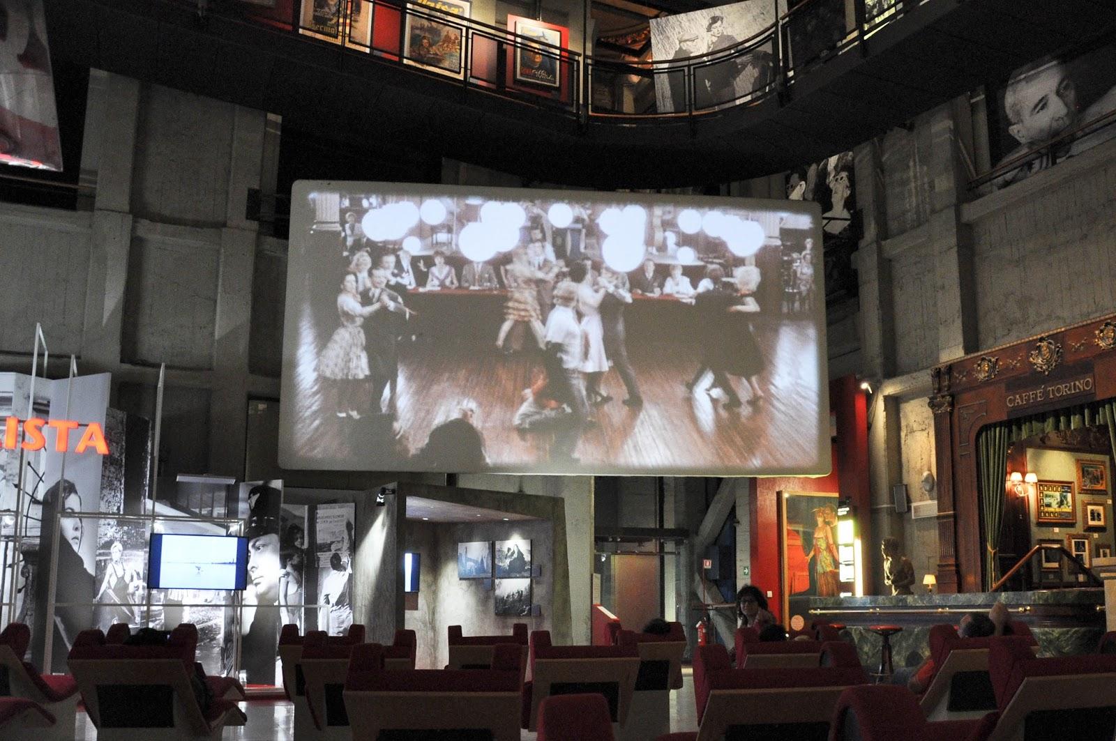 Inside the National Museum of the Cinema, Mole Antonelliana, Turin, Italy