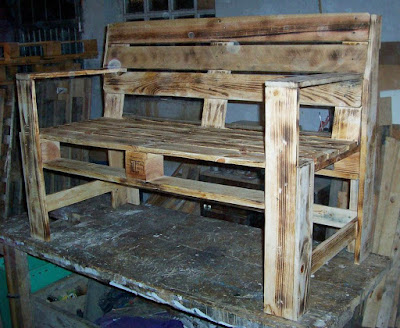 diy park or garden bench made of pallets