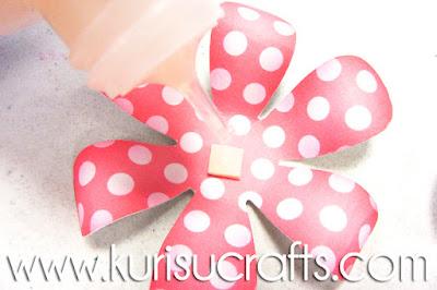 Tutorial flores de papel Kurisu Crafts, paso 6