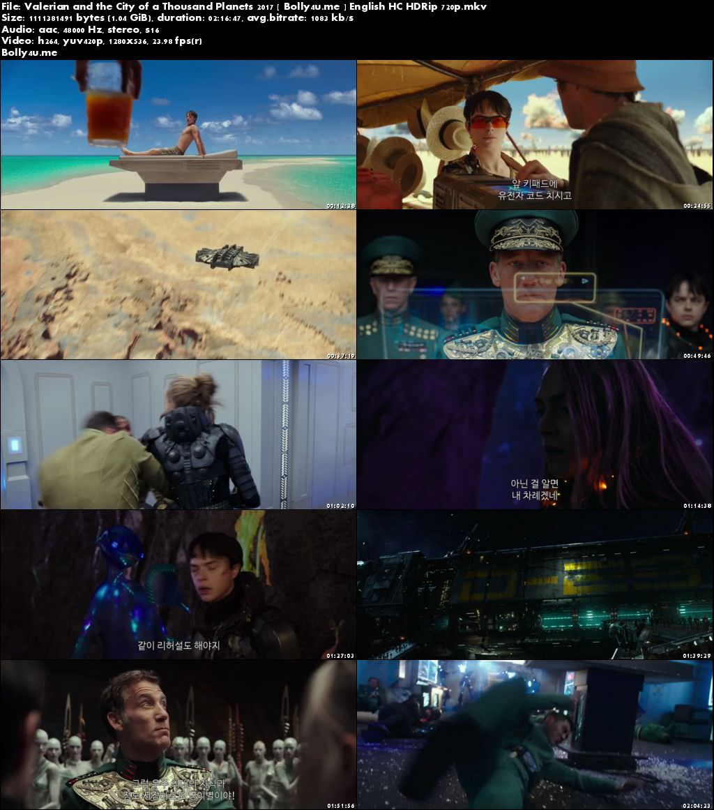 Valerian and the City of a Thousand Planets 2017 HDRip 400MB English 480p Download