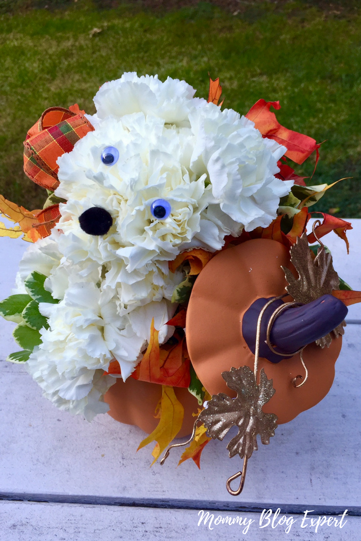 Mommy blog expert party animal fall fresh flower bouquets for holiday gift the new unique and adorable party animal collection of fall theme floral sculpture bouquets now available for delivery from 1 800 flowers izmirmasajfo Gallery