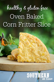 Easy Oven Baked Corn Fritter Slice Recipe