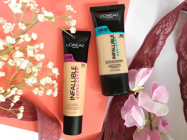 L'Oreal Pro-Glow Foundation and L'Oreal Total Cover Foundation