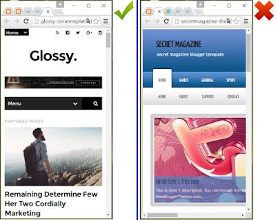 Reconnaître un design / template blogger responsive
