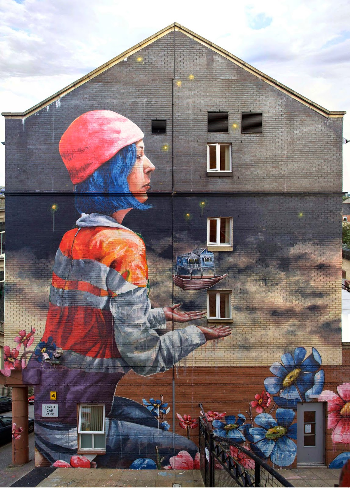 Fintan Magee recently stopped by the city of Glasgow where he was invited for the In Common Street Art Festival.