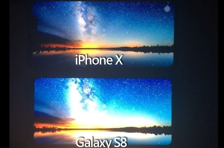 iPhone X 與 Galaxy S8 OLED 螢幕大對決