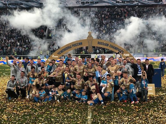 Витсель поздравил «Зенит» с завоеванием чемпионства