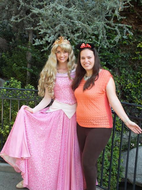 דיסני קליפורניה - מפגש עם הנסיכה אורורה מהיפיפיה הנרדמת