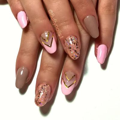fluffy nails ongles en gel et nail art sur ongles tr s rong s julie ongles negative space. Black Bedroom Furniture Sets. Home Design Ideas