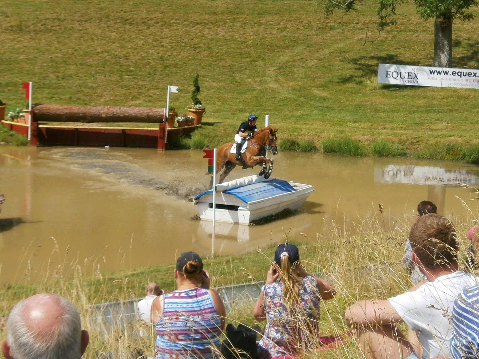 Oliver Townend on the cross country course at Gatcombe