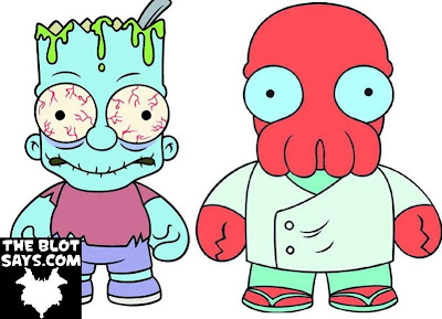 San Diego Comic-Con 2013 Exclusive Zombie Bart The Simpsons Vinyl Figure & Zoidberg Futurama Vinyl Figure by Kidrobot