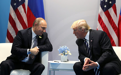 Presidents Putin and Trump, G20, Hamburg.