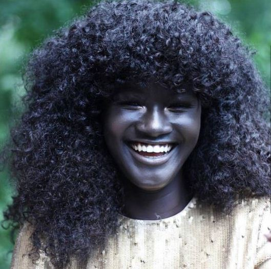 Meet Stunning Charcoal Black African Model Who Doesn't Believe In Bleaching (Photos)