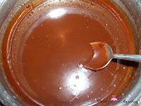Leche, chocolate y Nutella derretidos