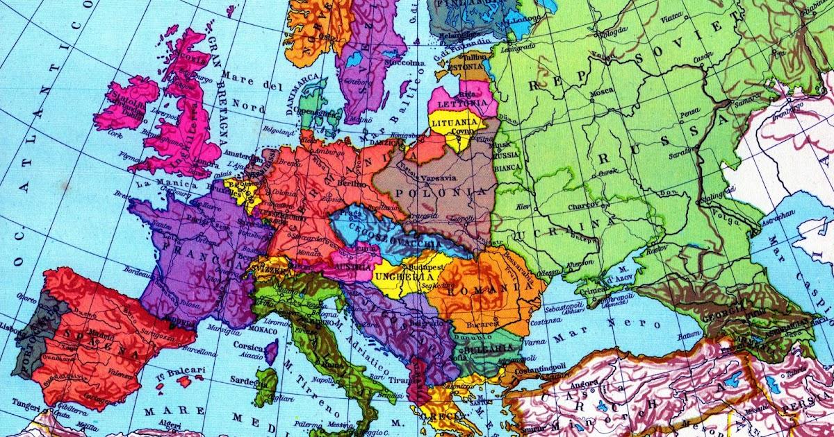 Cartina Europa 1938.Storia Storia Dell Europa N 72 Dal 1 922 Al 1 940 E V D C