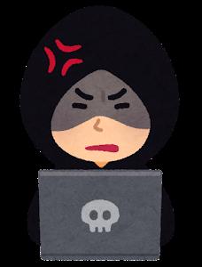 ハッカーのイラスト(怒った顔)