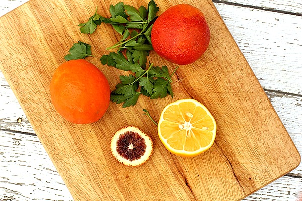 blood oranges and tangelos