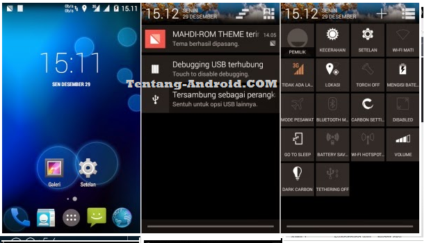 Download Carbon ROM 4.4.4 Kitkat Andromax G2 Limited Edition