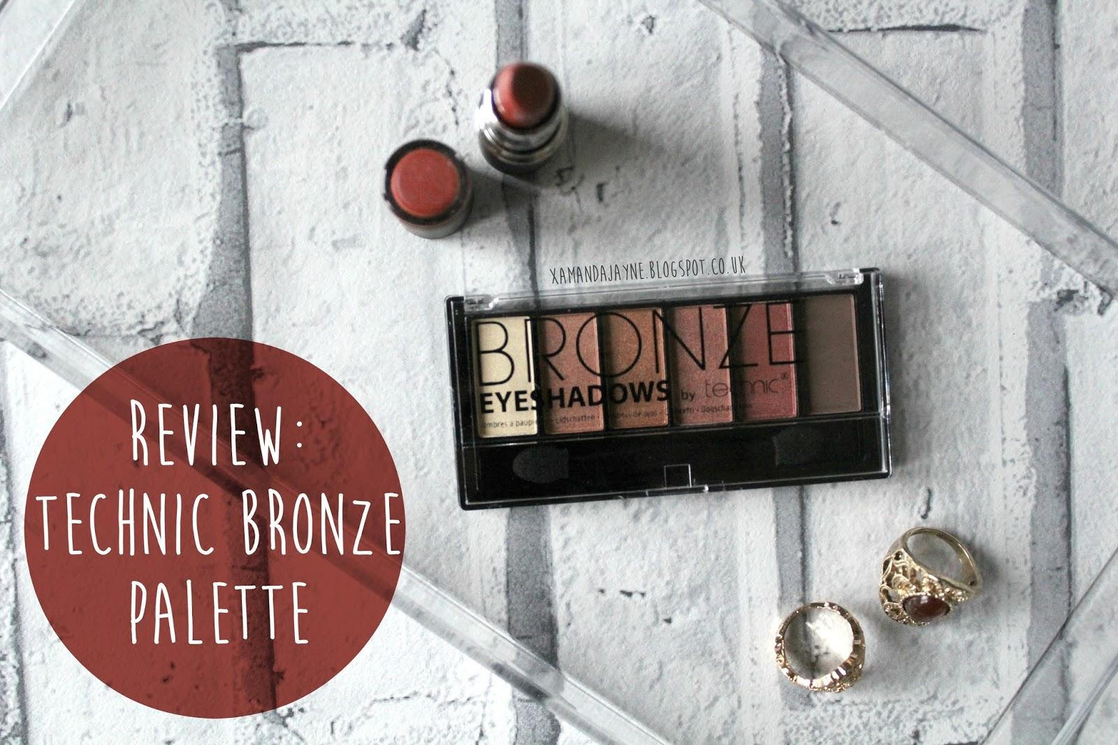 technic, budget, eyeshadow, drugstore, eyeshadow palette, review, swatches, bronze eyeshadow
