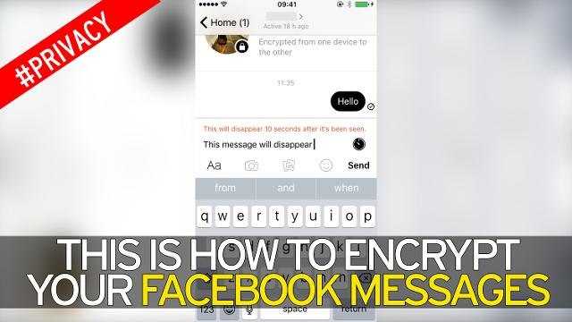 how to send encrypted facebook messages