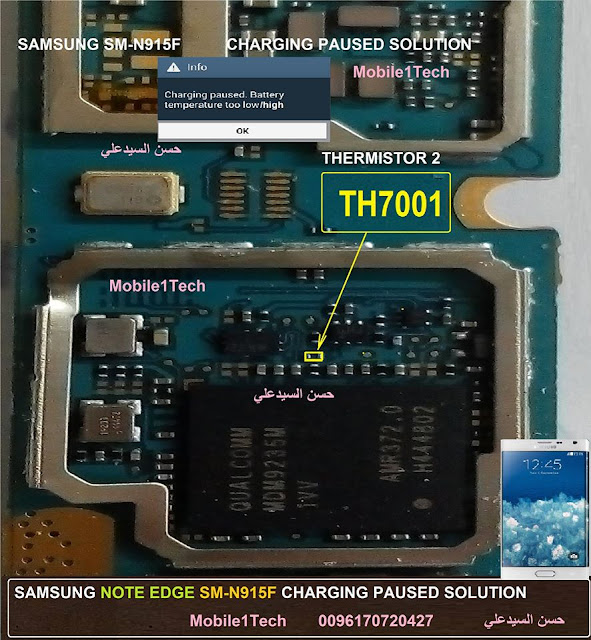 Samsung Note EDGE SM-N915F Charging Paused Jumper Solution
