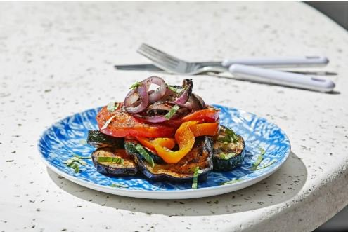 Grilled ratatouille stack