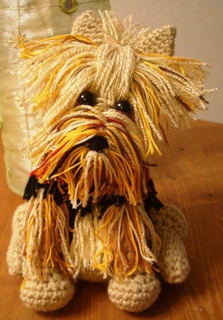 Dog toy Amigurumi crochet Yorkshire Terrier Yorkshire dog. Yorkie ...   640x447