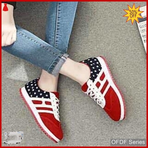 OFDF289 Sepatu Sneakers Cantik Opeck Warna Merah BMGShop