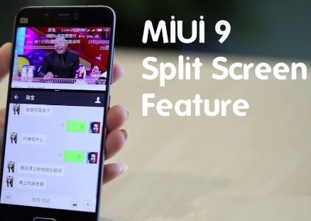 cara split screen MIUI 9