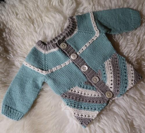 Elliot Baby Cardigan - Free Pattern