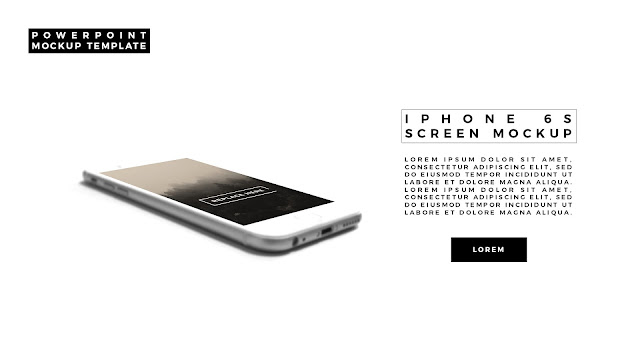 iPhone 6S Perspective Screen Mockup in Predefined PowerPoint Layout Slide 3