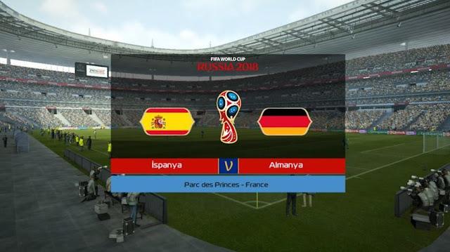 World Cup 2018 Graphic Menu PES 2013