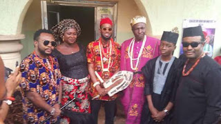 See Photos Of D'banj Rocking Igbo Attire As He Bags Chieftancy Title In Imo State