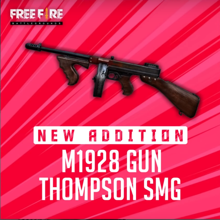 Free Fire New Gun Update Thompson Gamersidea Game From Heart