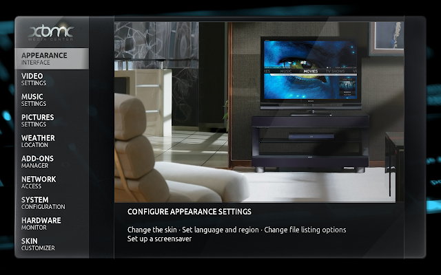 Aeon Nox 2.0 XBMC Media Center Theme