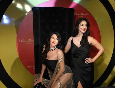 Sunny Leone's wax statue at Madame Tussauds museum in Delhi