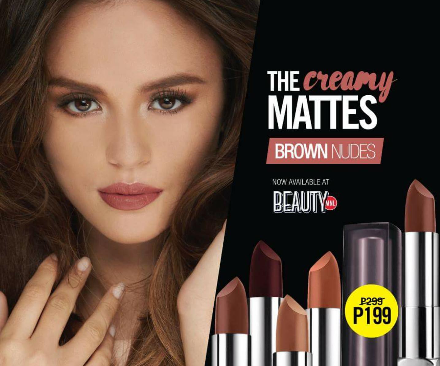 Sale Alert Maybellines Creamy Mattes Brown Nudes -4608