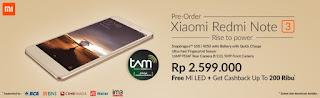 Promo Preorder Xiaomi Redmi Note 3