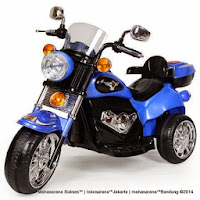 Motor Mainan Aki Pliko PK6900N New Harley Blue