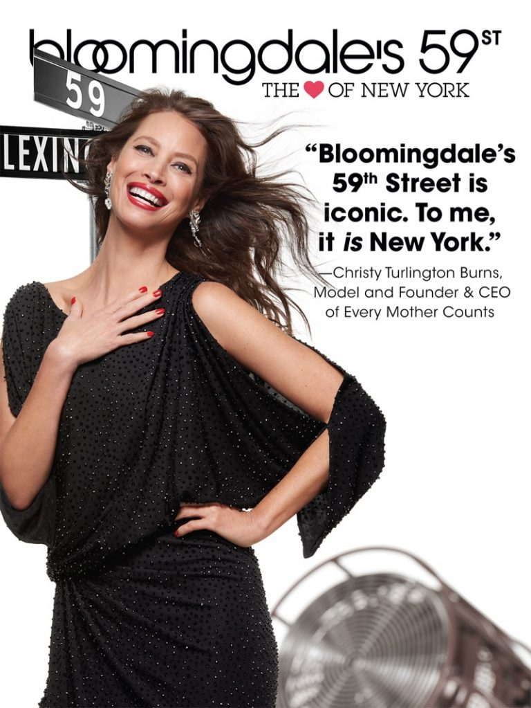 Christy Turlington stars in Bloomingdale's 'Heart of N.Y.' campaign