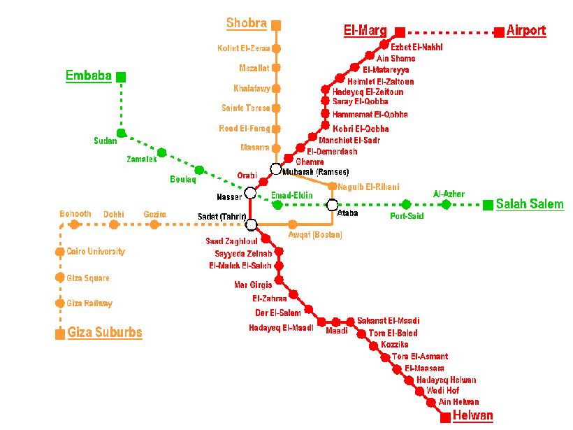 Mapa do metrô do Cairo - Cairo Copta: o bairro dos cristãos no Egito