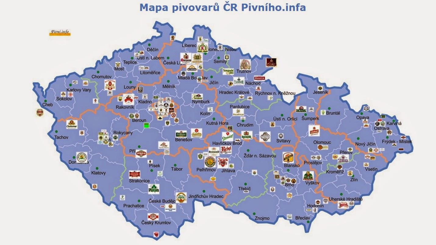 Mapa Pivovary V Cr Mapa