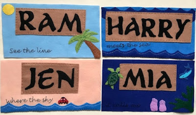 Moana themed name labels for Fish Extender