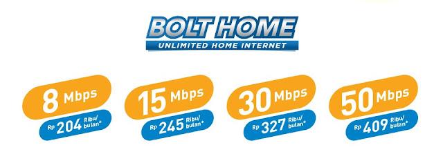 Harga paket Bolt Home