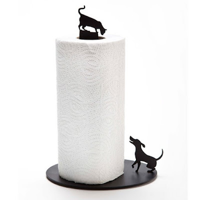 Dog Vs. Cat Paper Towel Holder: