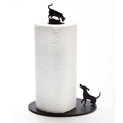 Dog Vs. Cat Paper Towel Holder:
