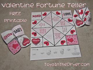 Valentine Fortune Teller--FREE Printable!