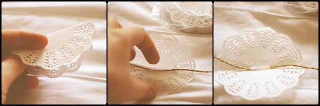 Tutorial DIY para hacer guirnalda con blondas de papel, para boda o fiestas